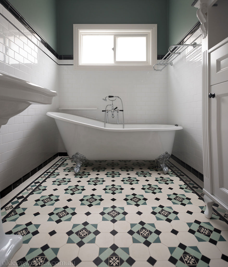 Bathroom Tile: Bathroom Heritage Tessellated Tiles