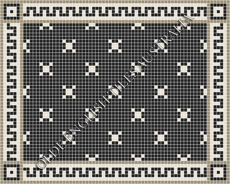 - Charleston 20 Black with White Pattern