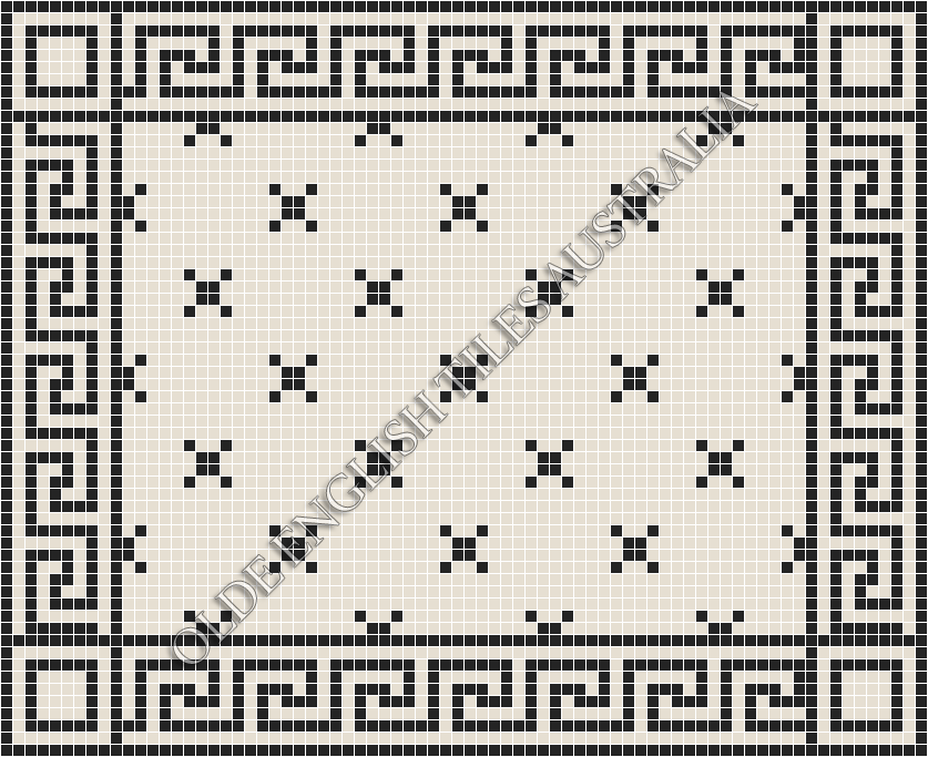 - Charleston 20 White with Black Pattern