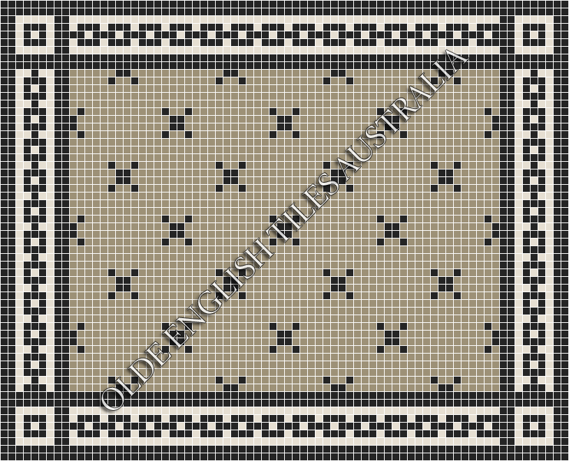 - Charleston 20 Light Grey with Black Pattern