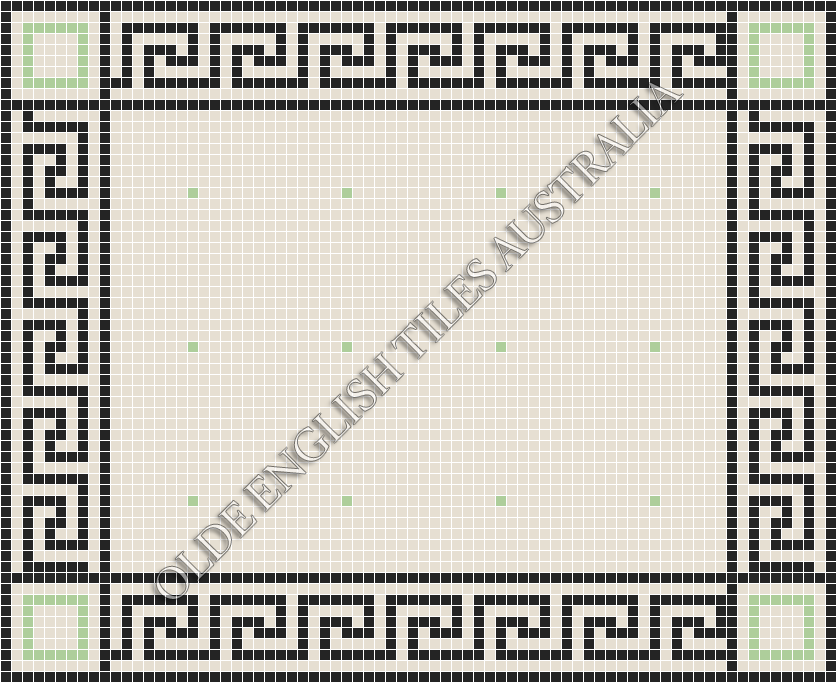 - Confetti 20 Super White with Sage Pattern