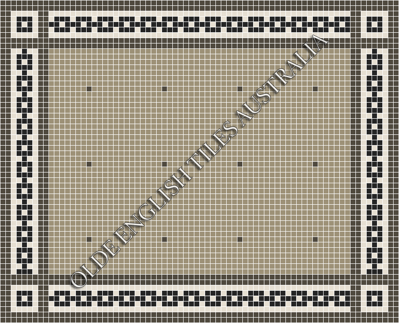 Classic Mosaic Tiles - Confetti 20 Light Grey with Charcoal Pattern