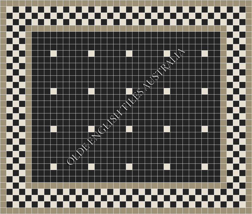 - Confetti 50 Black with White Pattern