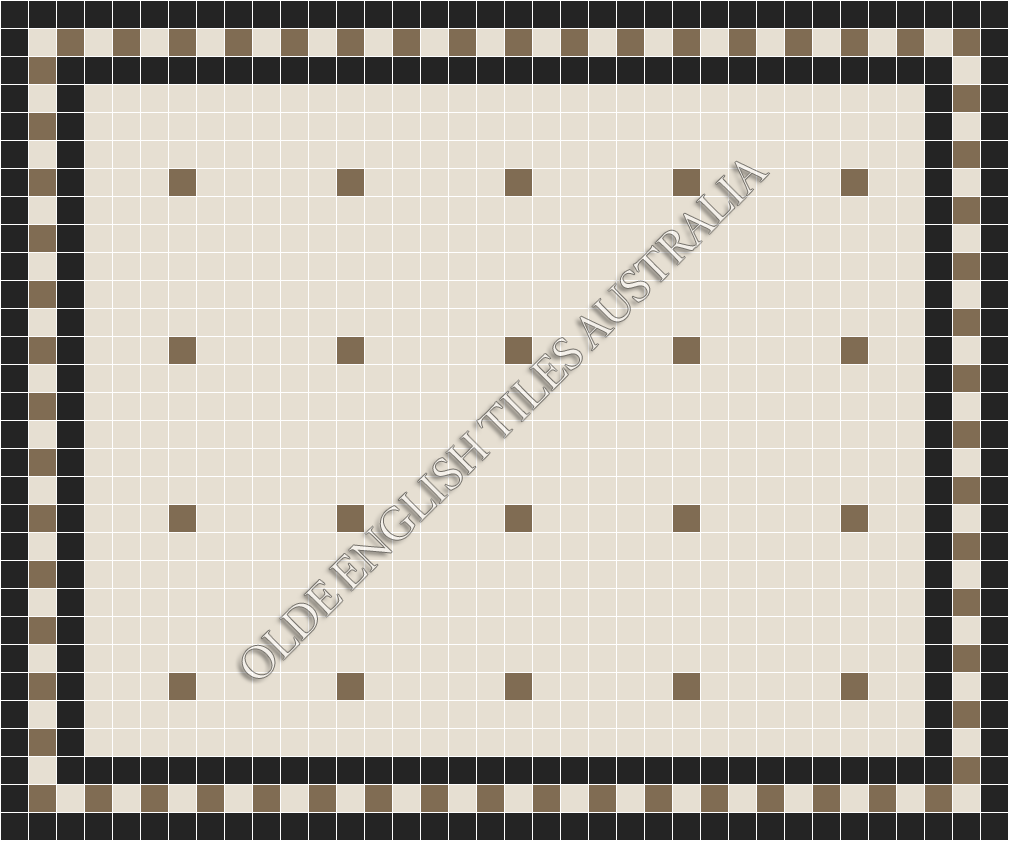- Confetti 50 White with Coffee Pattern