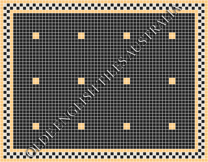 - Cotton Club 20 Black with Oatmeal Pattern