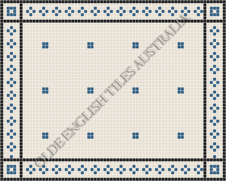 - Cotton Club 20 White with Special Blue Pattern