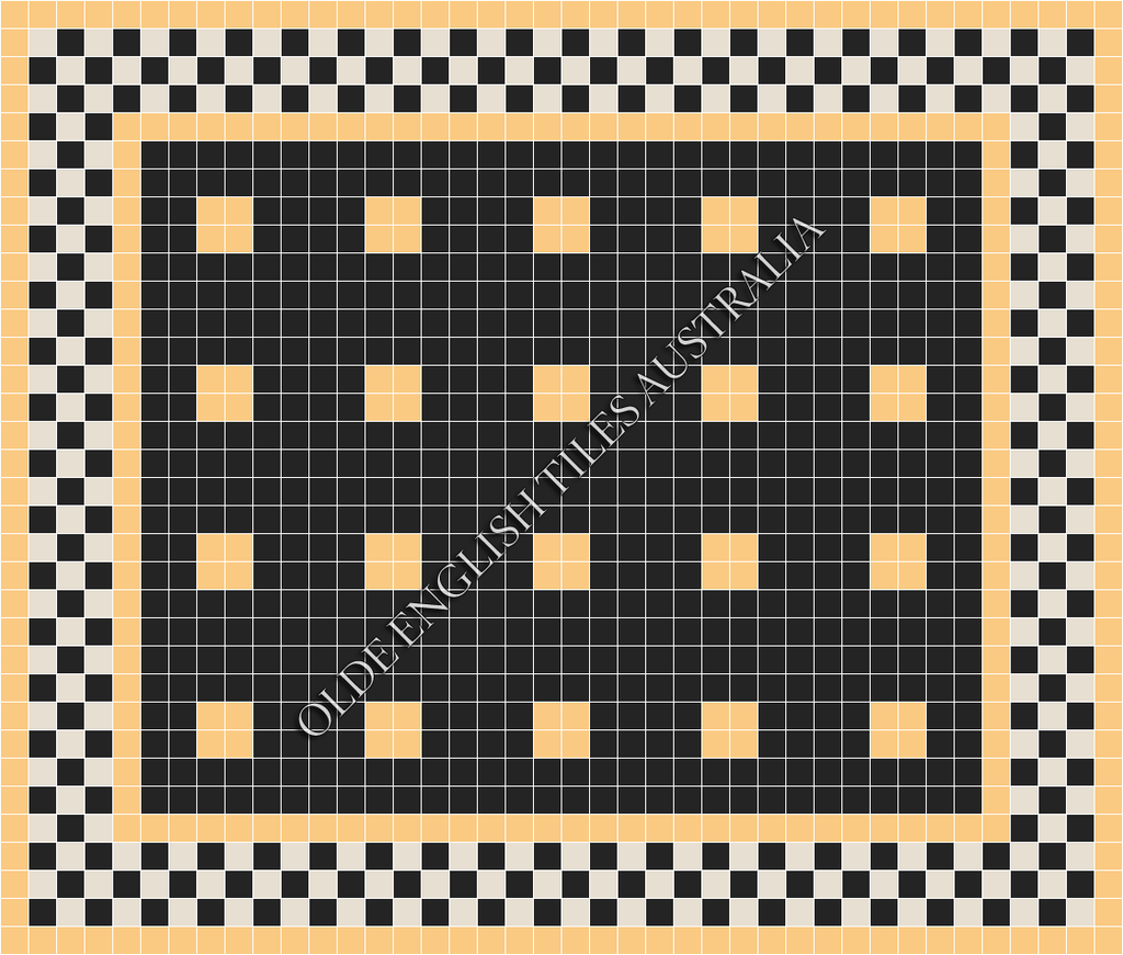 - Cotton Club 50 Black with Oatmeal Pattern