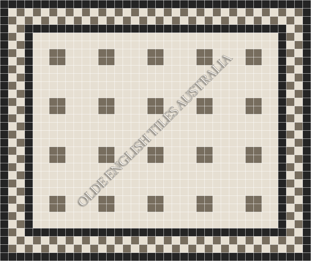 - Cotton Club 50 White with Grey Pattern
