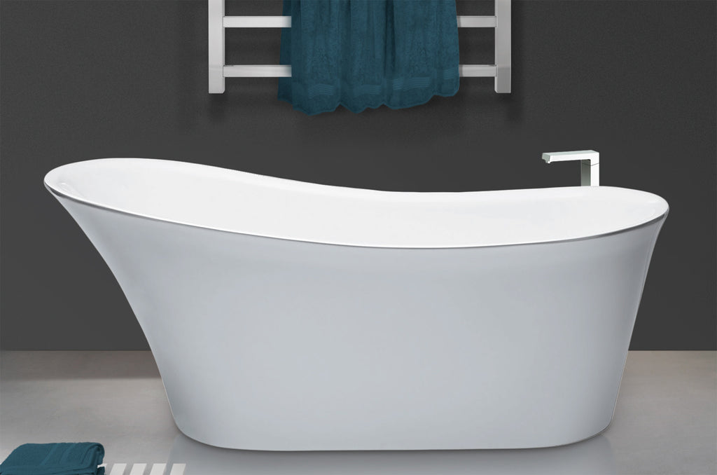 Traditional and Contemporary Baths -  Designer Silver Libra Acrylic bath
