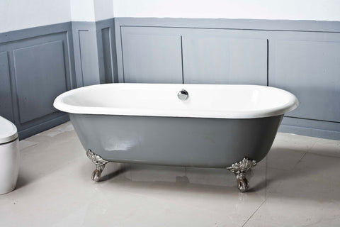 Dual Cast Iron bath