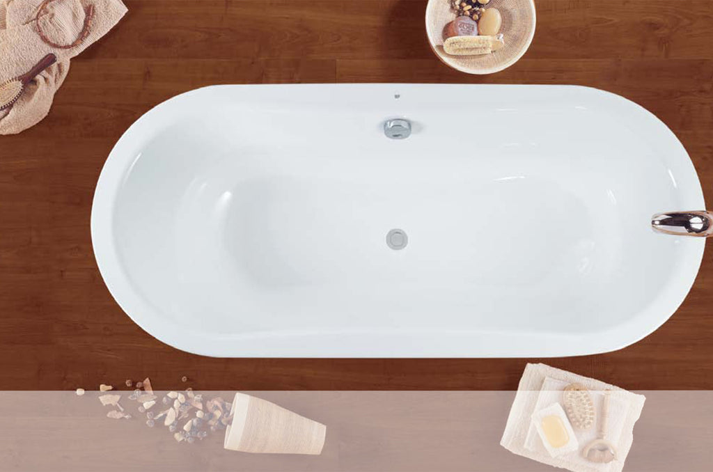- Emma Inset oval Steel bath
