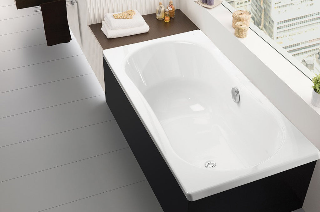 Traditional and Contemporary Baths -  Emma Square Inset Steel bath