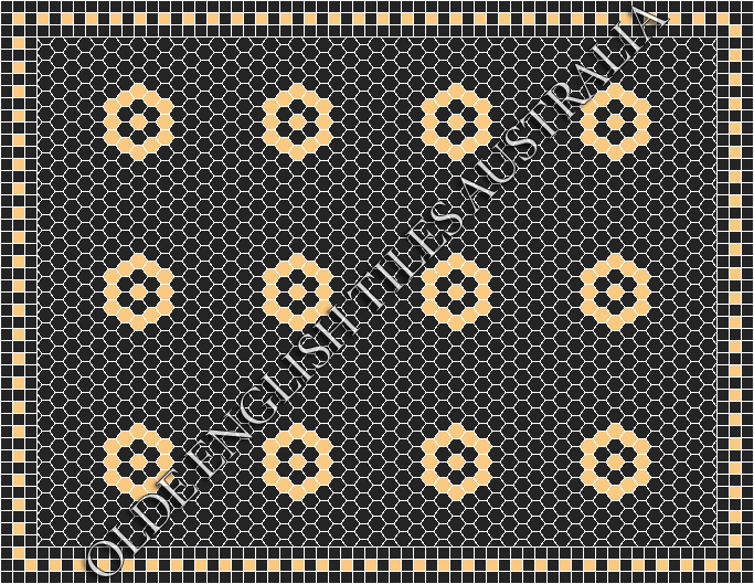 - Empire 25 Black with Oatmeal Pattern