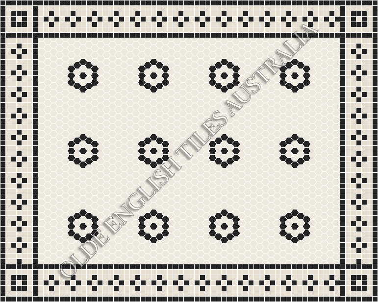 - Empire 25 White with Black Pattern