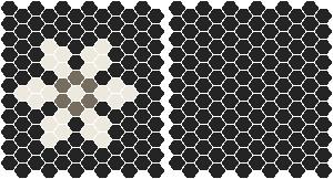 Classic Mosaic Tiles - Fontaine 25 Black with White and Grey