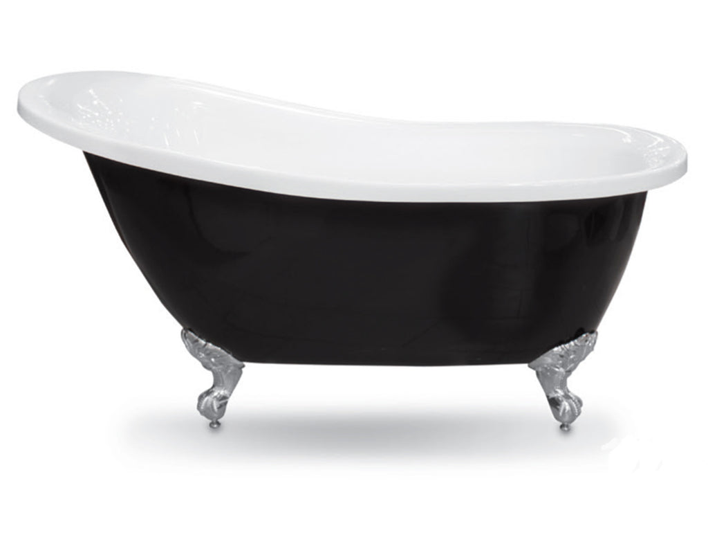 - Forme Black & White Slipper 1550 & 1700 Freestanding Acrylic bath