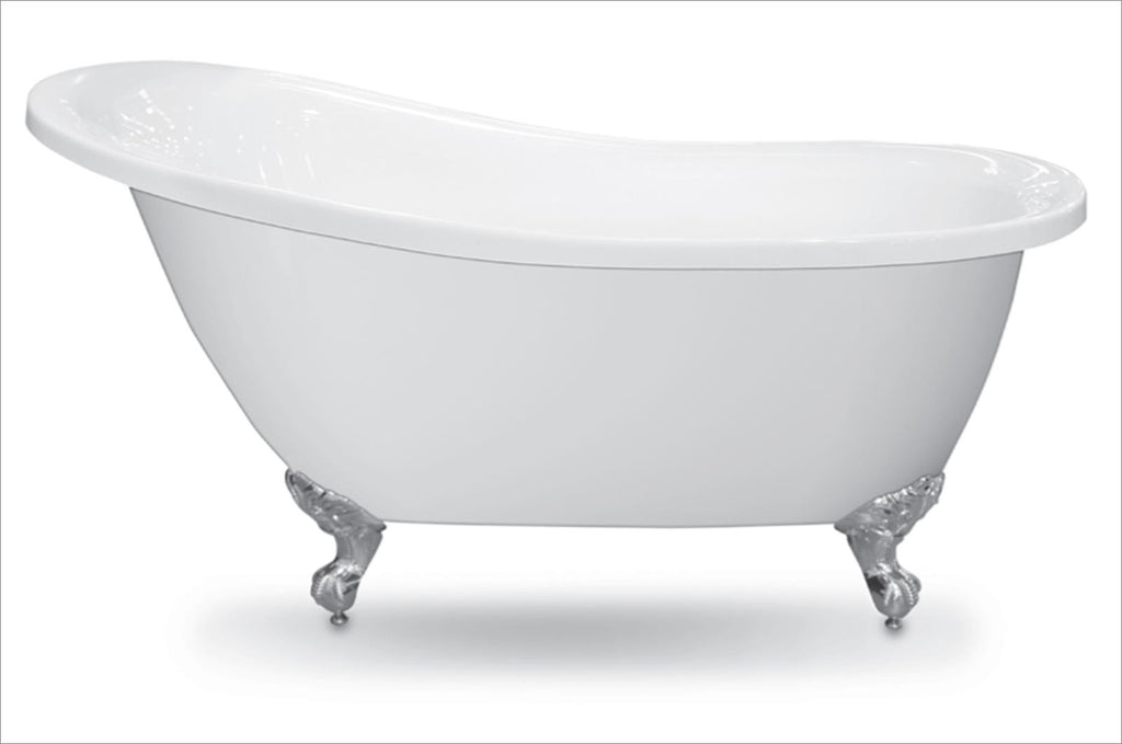 Traditional and Contemporary Baths -  Forme White Slipper 1550 & 1700 Freestanding Acrylic baths