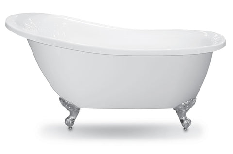 Forme White Slipper 1550 & 1700 Freestanding Acrylic baths