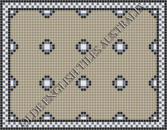 - Gatsby 20 Multi Light Grey with Black, Light Blue and White Pattern