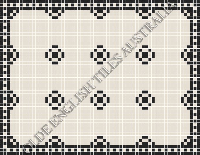 - Gatsby 20 White with Black Pattern