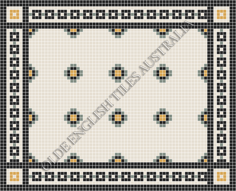 - Gatsby 20 Multi White with Light Green, Yellow and Black Pattern