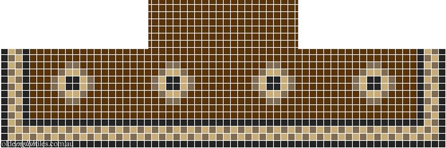 Fireplace Mosaic -  Gatsby Multi 20 with Checkerboard border - Option 2