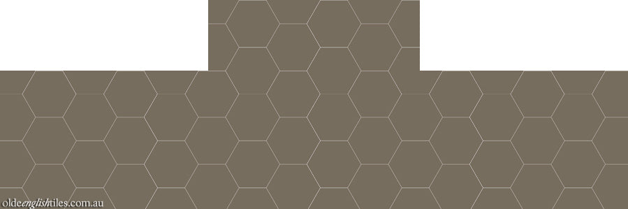 Fireplace Tessellated -  Hexagon 100 - Option 2