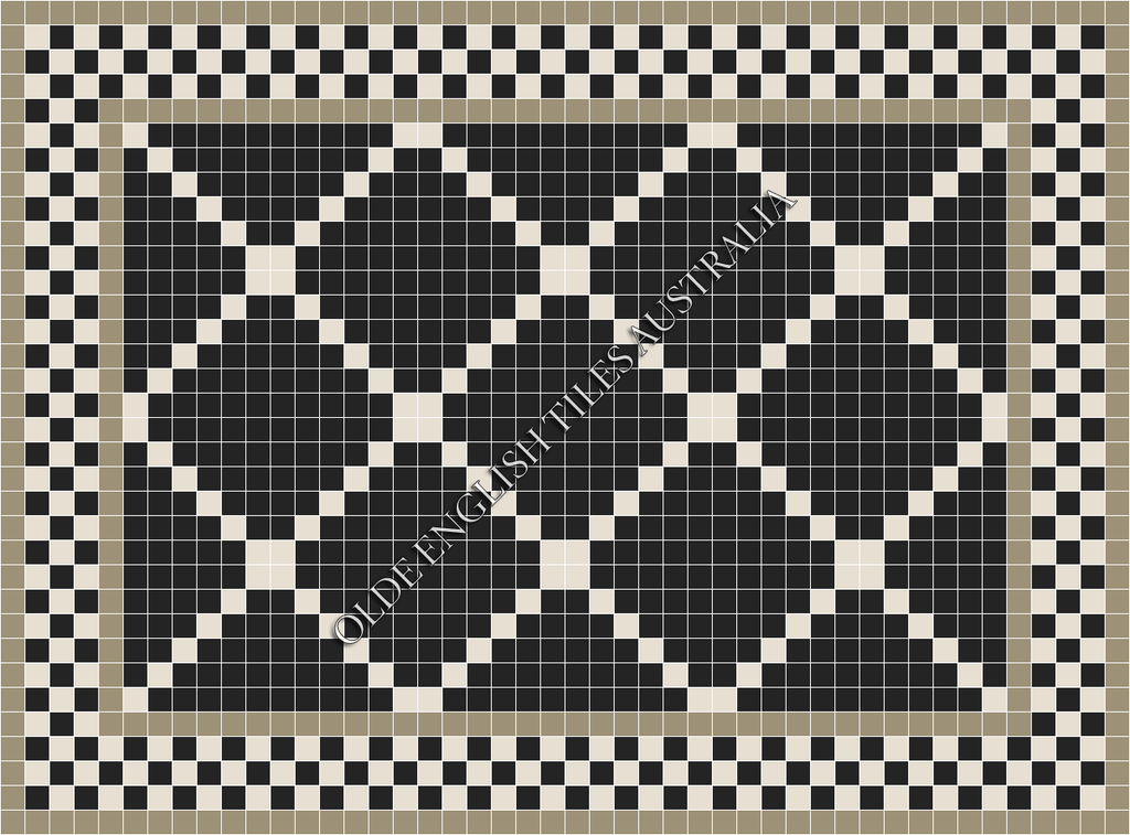 - Manhattan 50 Black with White Pattern