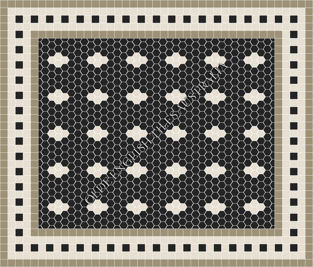 - Metropolis 50 Black with White Pattern
