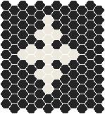 Classic Mosaic Tiles - Motif 25 Black with White