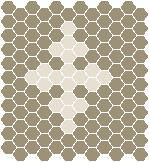 Classic Mosaic Tiles - Motif 25 Light Grey with White