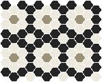 - Palasade 25 Black with White and Light Grey Pattern
