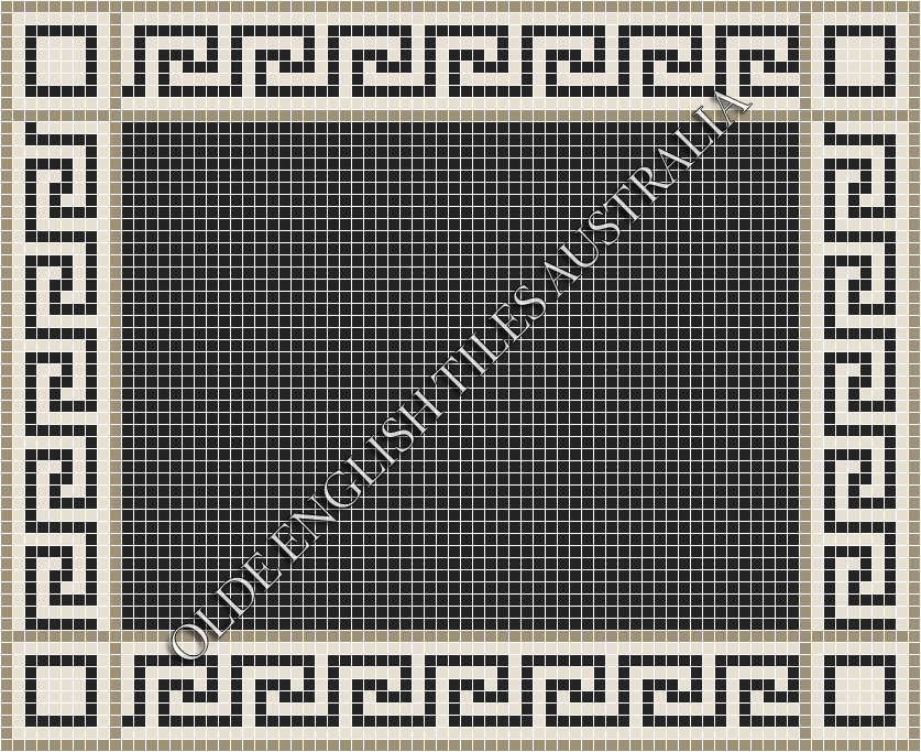 - Plain Square 20 Black Mosaics