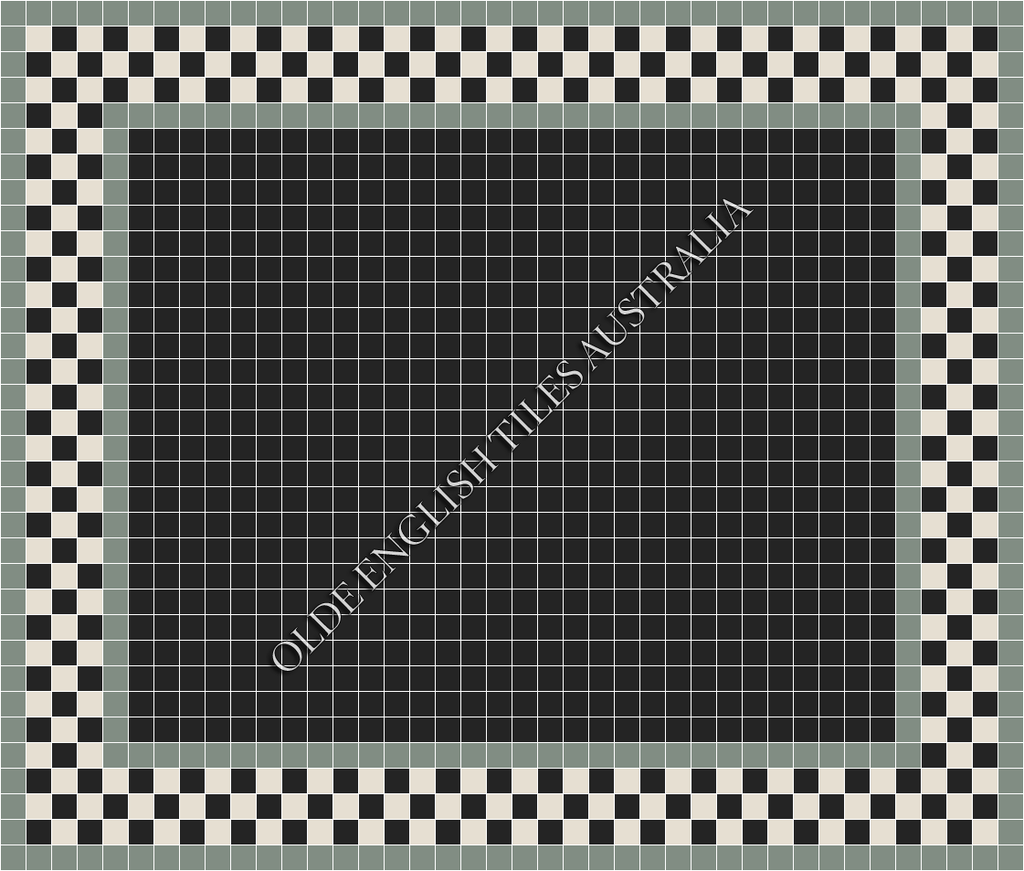 - Plain Square 50 Black Mosaics