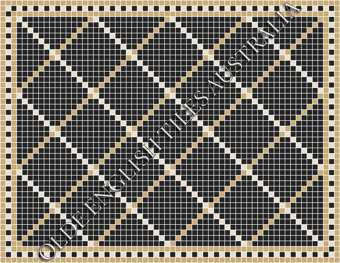 - Ritz 20 Multi Black with White and Linen Pattern