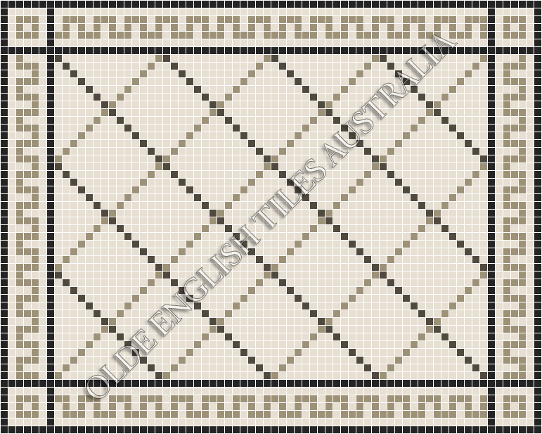 - Ritz 20 Multi White with Charcoal and Light Grey Pattern