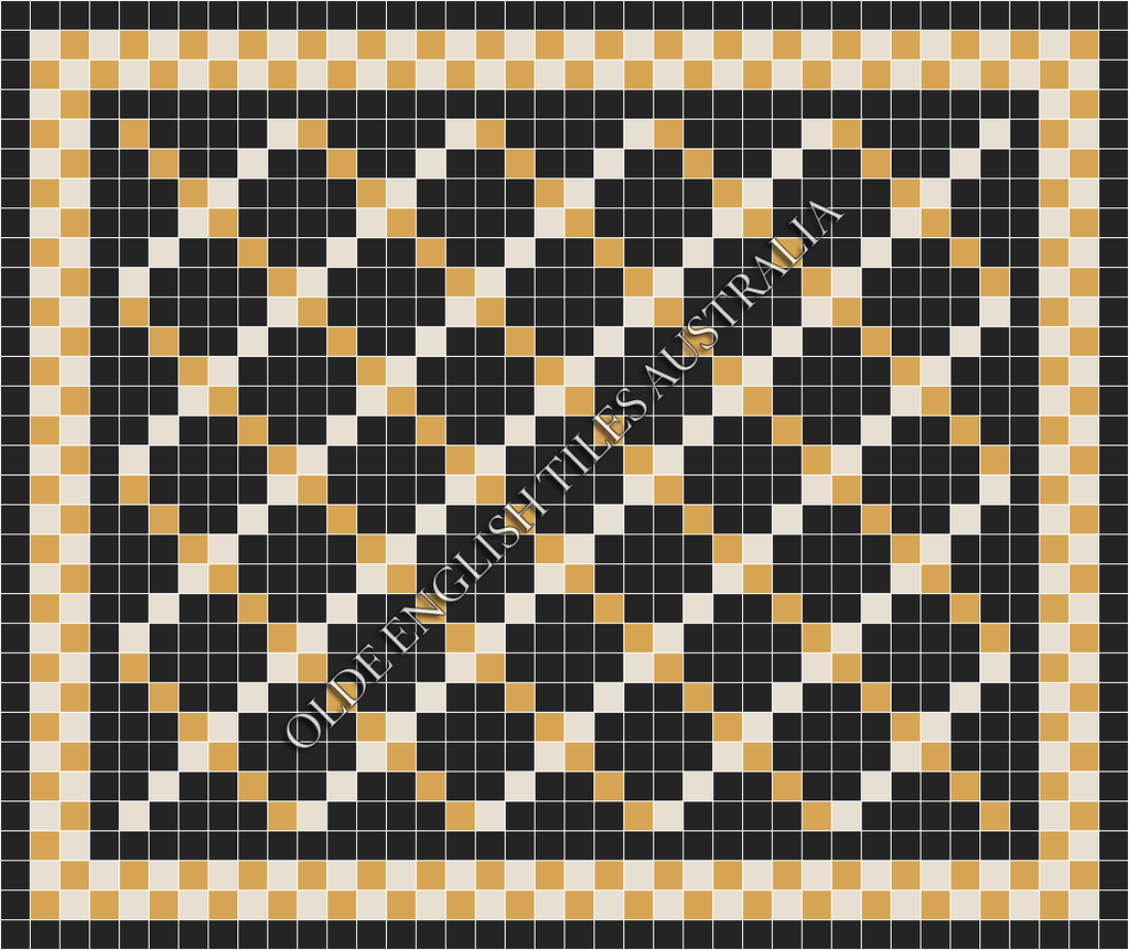 - Ritz 50 Multi Black with White and Yellow Pattern
