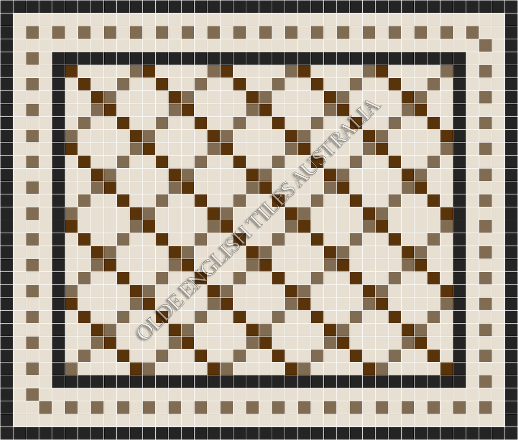 - Ritz 50 Multi White with Special Brown and Coffee Pattern