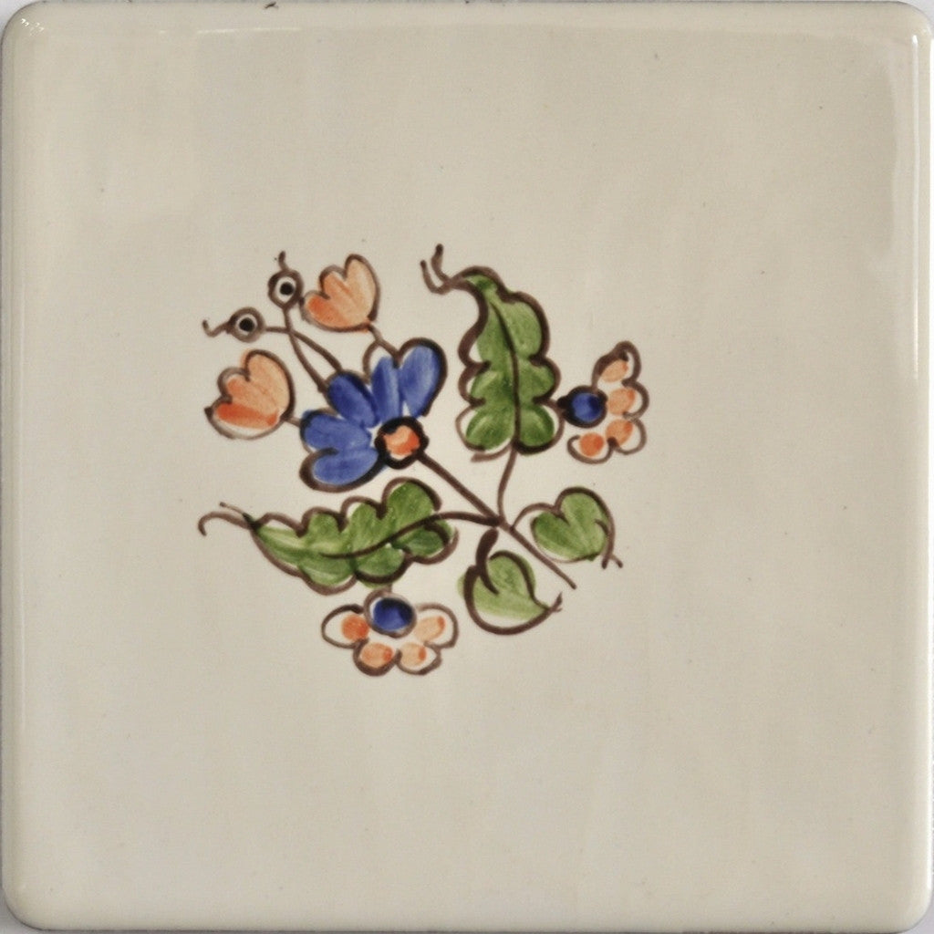 French Provincial Wall Tiles - Summer flowers No4