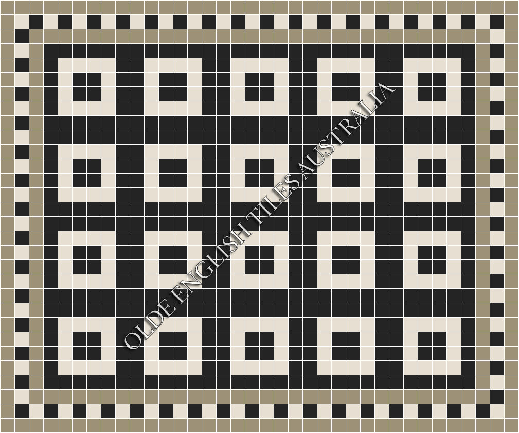 - Time Square 50 Black with Super White Pattern