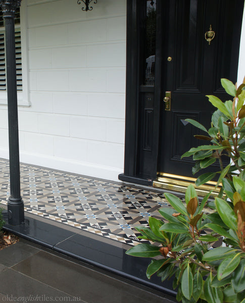 Tessellated Tiles Patterns Prahan front porch