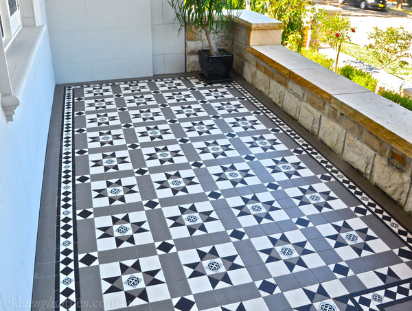 Victorian & Federation Wall Tiles Naremburn entrance