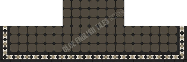 Tessellated Tiles Fireplace 35