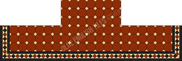 Tessellated Tiles Fireplace 34