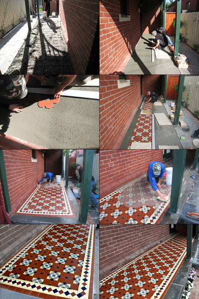 Tessellated Tiles Patterns Verandah and Path Transformations 3