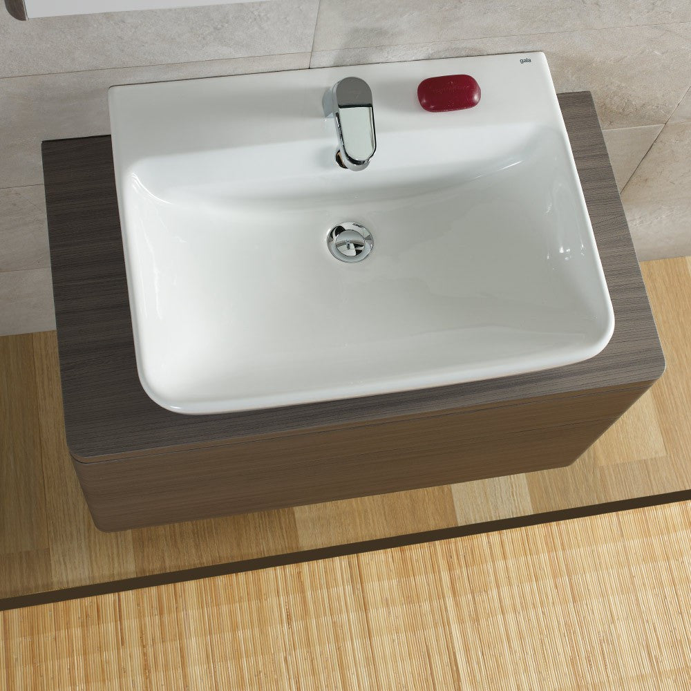 - Emma Square Wall hung or over counter basin