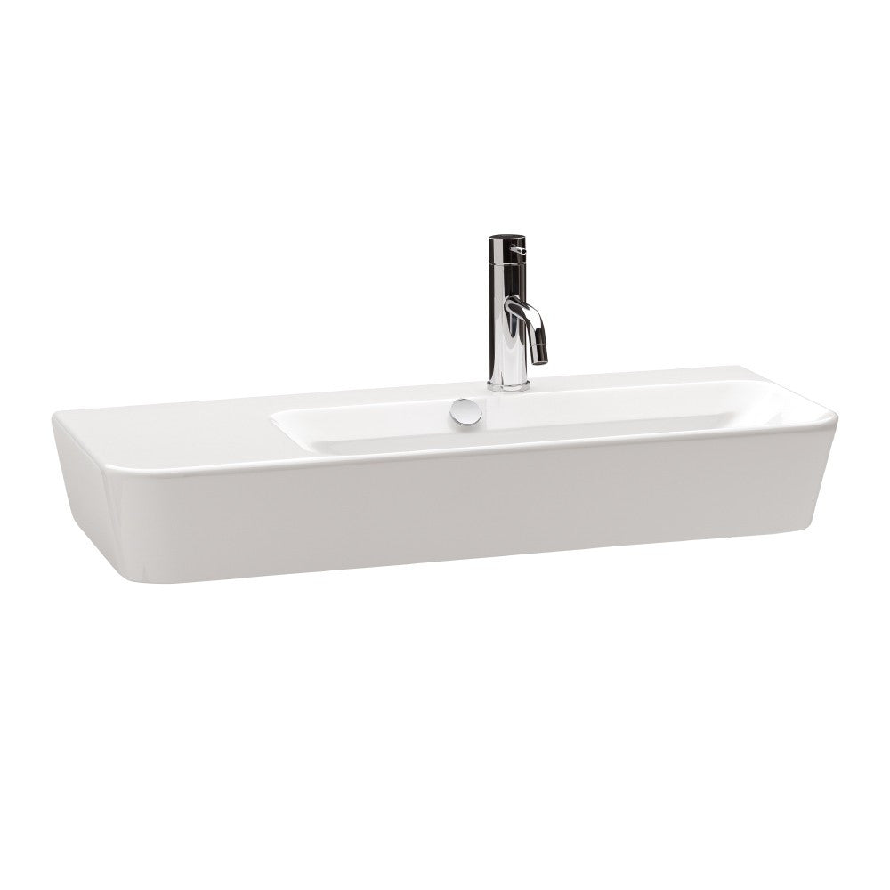 - Emma Square Wall hung or over counter asymmetric Right Hand basin