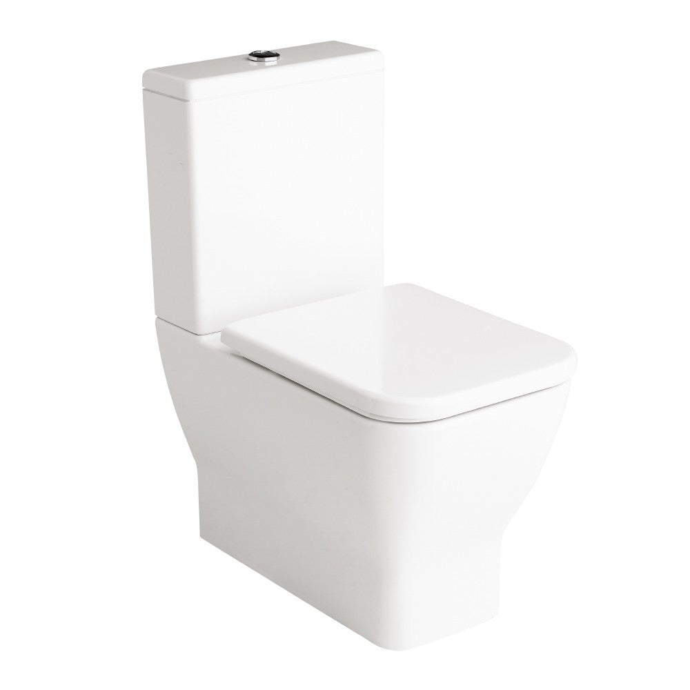 Emma Square Toilets, Bidet & Basin Range - Emma Square BTW toilet suite with soft close seat