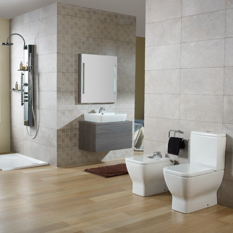 Emma Square BTW toilet suite with soft close seat
