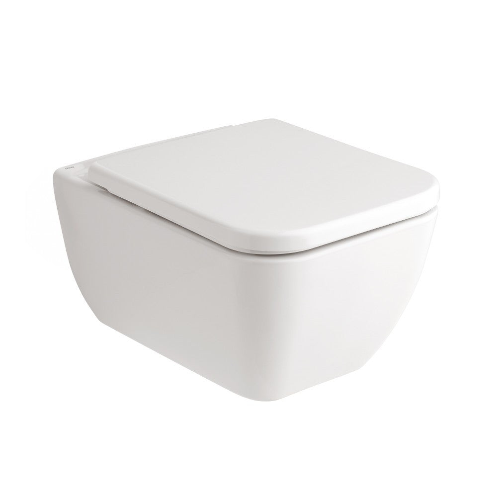 - Emma Square Wall hung pan with soft close seat